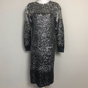 Adrienne vittadini fully sequined sweater dress